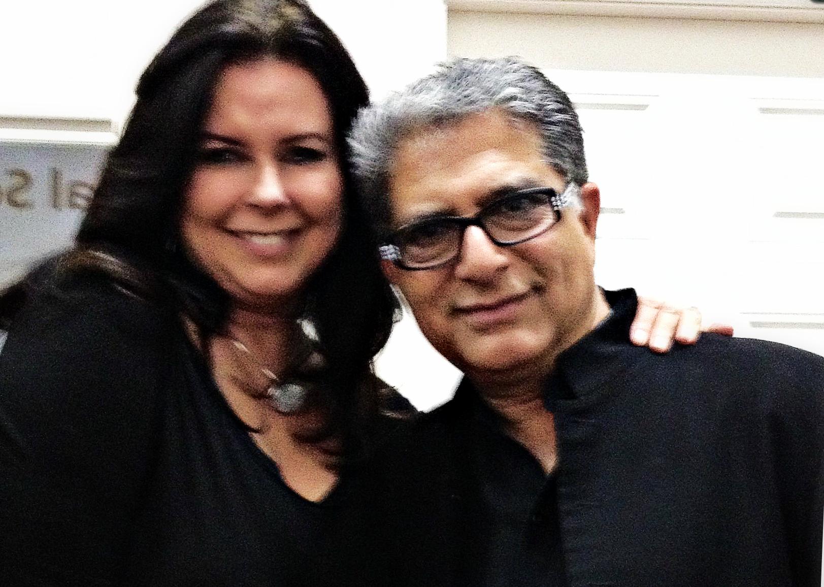 Siobhan McKenna and Deepak Chopra