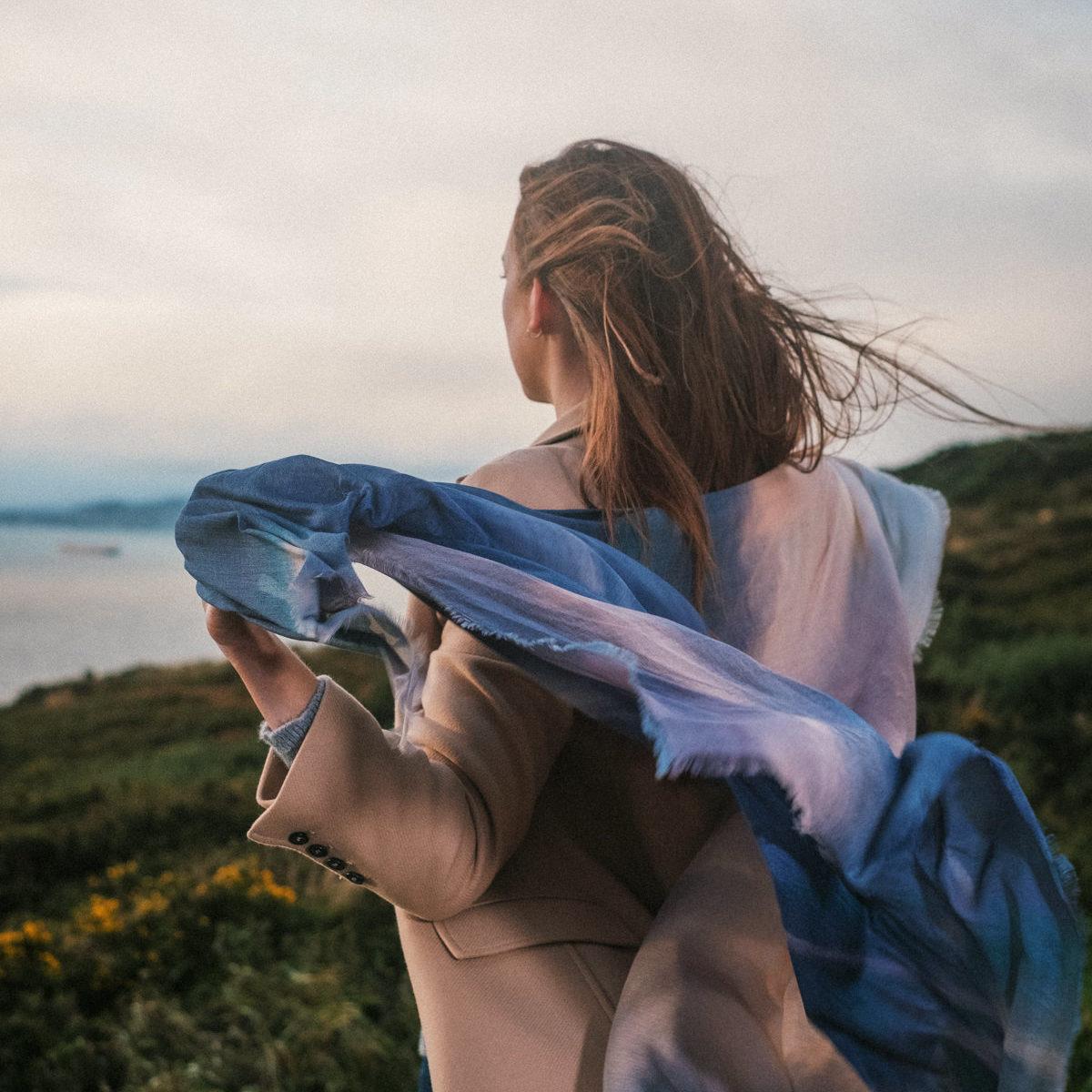 Whisper To Me Scarf - An Irish Sky
